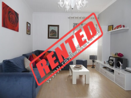 Two bedroom apartment for rent close to Barrikadave Street in Tirana.  It is situated on the 3-rd