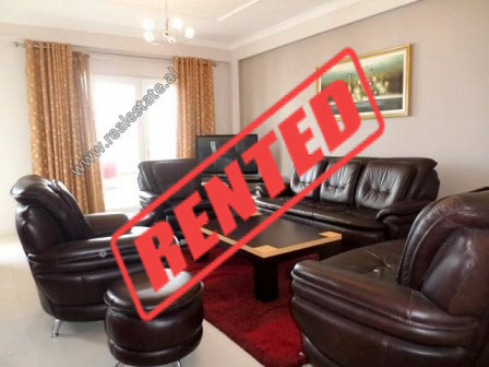 Three bedroom apartment for rent in Kodra e Diellit Residence in Tirana.  It is located on the 4th