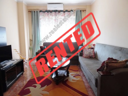 Two bedroom apartment for rent in Don Bosko Street in Tirana.  It is located on the 3-rd floor of