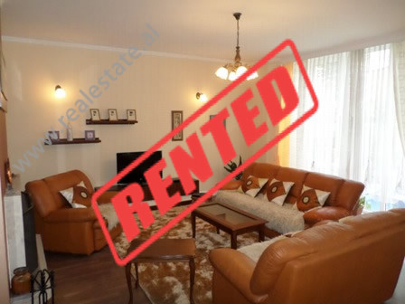 Duplex apartment for rent in Cerciz Topulli street, near Barrikadave street in Tirana.