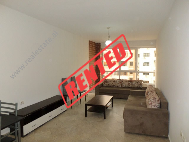 Two bedroom apartment for rent in Reshit Petrela street in Tirana, Albania.  It is located on the