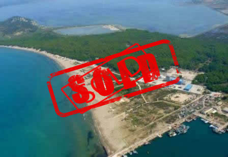 Land for sale in Zvernec  beach in Vlora, Albania.