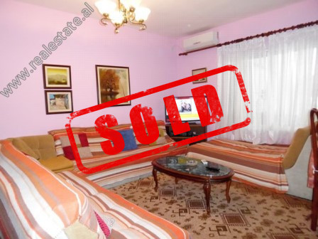 Two bedroom apartment for sale in Andon Zako Cajupi Street in Tirana.  It is located on the 5th fl