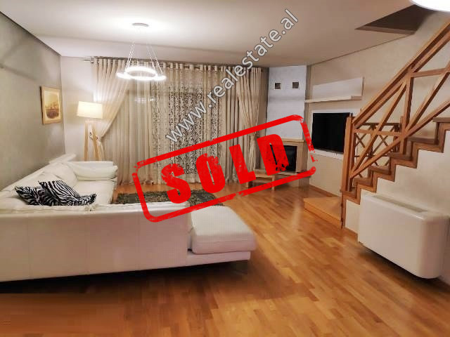 Modern two bedroom apartment for sale in Kodra e Diellit Residence in Tirana.  It is located on th