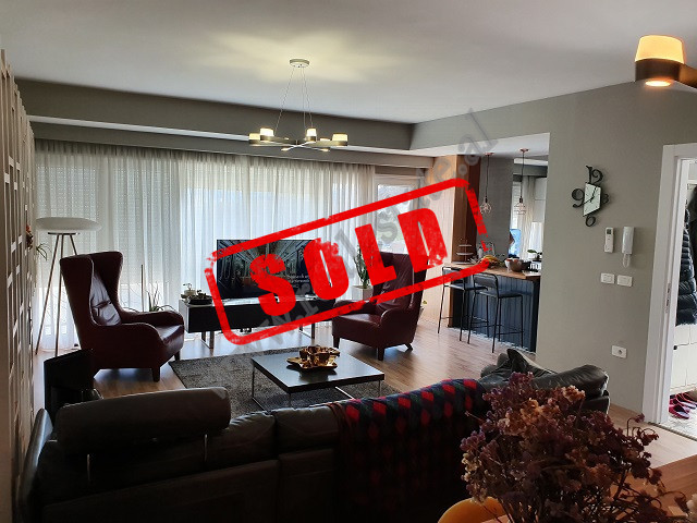 Modern duplex apartment for sale in Kodra e Diellit 2 Residence in Tirana.  The entrance is
