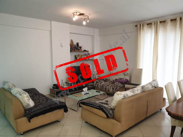 Two bedroom apartment for sale in Kodra e Diellit Residence in Tirana. It is situated on the second