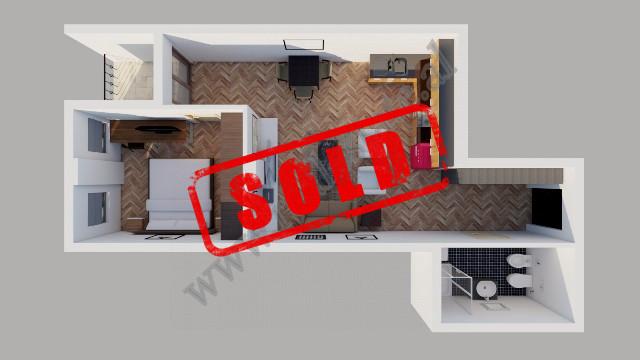Apartament 1+1 per shitje prane Liqenit te Thate ne Tirane. Apartamenti ndodhet ne katin e pare ban